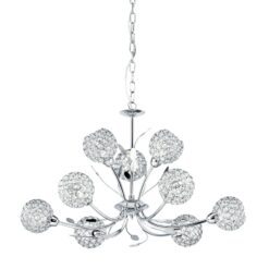 Searchlight 5579-9CC- Bellis II 9lt Multi Arm Pendant, Chrome