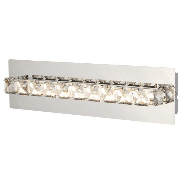 Searchlight 6001CC- Clover 1lt Wall Light, Chrome/clear/Silver
