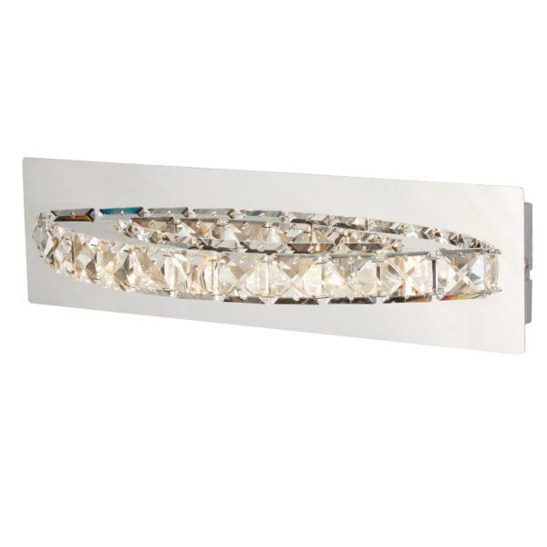 Searchlight 6002CC- Clover 1lt Wall Light, Chrome/clear/Silver