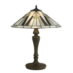 Searchlight 6073-42- Gatsby 2lt Table Lamps, Antique Bronze/black/Clear/White/Multi