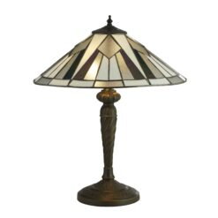 Searchlight 6075-42- Gatsby 2lt Table Lamps, Antique Bronze/black/Clear/White/Multi