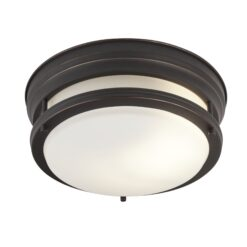 Searchlight 6142-2BR- Edinburgh 2lt Flush, Brown/White