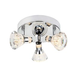 Searchlight 6363CC- Royal 3lt Flush, Chrome/Clear