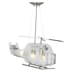 Searchlight 639- Novelty 3lt Semi Flush, Satin Silver