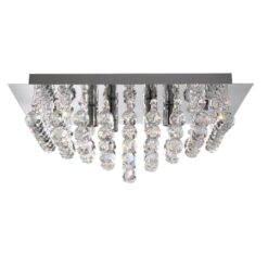 Searchlight 6404-4CC- Hanna 4lt Flush, Chrome
