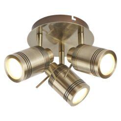 Searchlight 6603AB- Samson 3lt Spotlight, Antique Brass