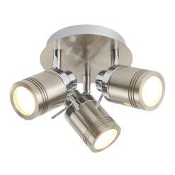 Searchlight 6603SS- Samson 3lt Spotlight, Satin Silver/Chrome/silver