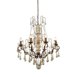 Searchlight 6938-8BR- Dauphin 8lt Multi Arm Pendant, Rustic Brown