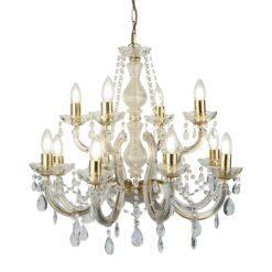 Searchlight 699-12- Marie Therese 12lt Multi Arm Pendant, Gold/clear