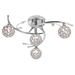 Searchlight 7024-4CC- Dimple 4lt Multi Arm Pendant, Chrome