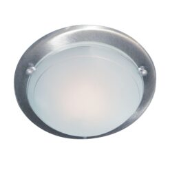 Searchlight 702SS- Flush 1lt Flush, Satin Silver