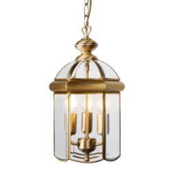 Searchlight 7133AB- Lanterns 3lt Single Pendant, Antique Brass