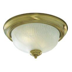 Searchlight 7622-11AB- Flush 2lt Flush, Antique Brass