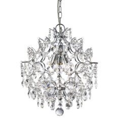 Searchlight 7673-3CC- Harrietta 3lt Single Pendant, Chrome