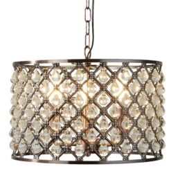 Searchlight 7813-3CU- Marquise 3lt Single Pendant, Antique Copper