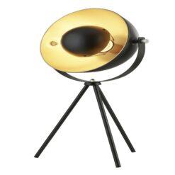 Searchlight 8021BK- Blink 1lt Table Lamps, Matt Black/ Gold/White/Chrome