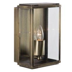 Searchlight 8204AB- Box 1lt Outdoor, Antique Brass