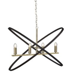 Searchlight 8244-4BZ- Hoopla 4lt Multi Arm Pendant, Bronze/Brown
