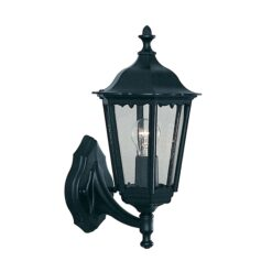 Searchlight 82530BK- Alex 1lt Outdoor, BLACK