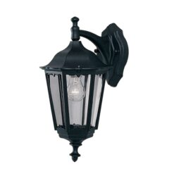 Searchlight 82531BK- Bel Aire 1lt Outdoor, Black