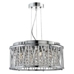 Searchlight 8334-4CC- Elise 4lt Multi Arm Pendant, Chrome