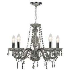 Searchlight 8695-5GY- Marie Therese 5lt Multi Arm Pendant, Grey