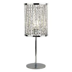 Searchlight 8931CC- Elise 1lt Table Lamps, Chrome/Clear