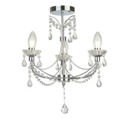 Searchlight 9037-3CC- Autumn 3lt Multi Arm Pendant, Chrome/Clear