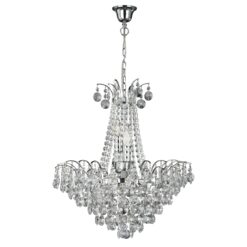 Searchlight 9071-52CC- Limoges 3lt Multi Arm Pendant, Chrome