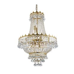 Searchlight 9112-52GO- Versailles 9lt Multi Arm Pendant, Gold