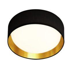 Searchlight 9371-37BGO- Gianna 1lt Flush, White/black/Gold