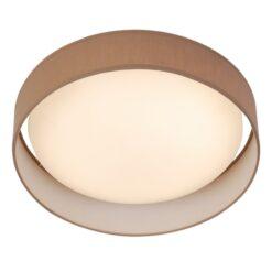 Searchlight 9371-37BR- Gianna 1lt Flush, White/Brown