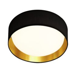 Searchlight 9371-50BGO- Gianna 1lt Flush, Black /Gold