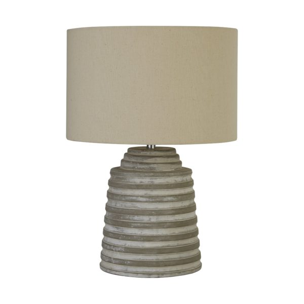 Searchlight 9621GY- Liana 1lt Table Lamps, Grey/Washed/Chrome