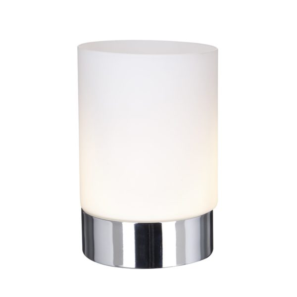 Searchlight 9791CC- Touch 1lt Table Lamps, Chrome/white